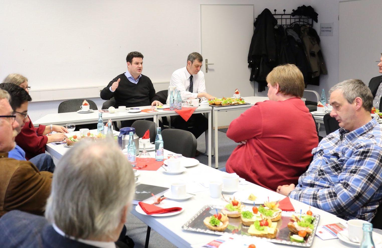 Gewerkschafts-, Personal- und Betriebsrätefrühstück mit Hubertus Heil und Matthias Möhle