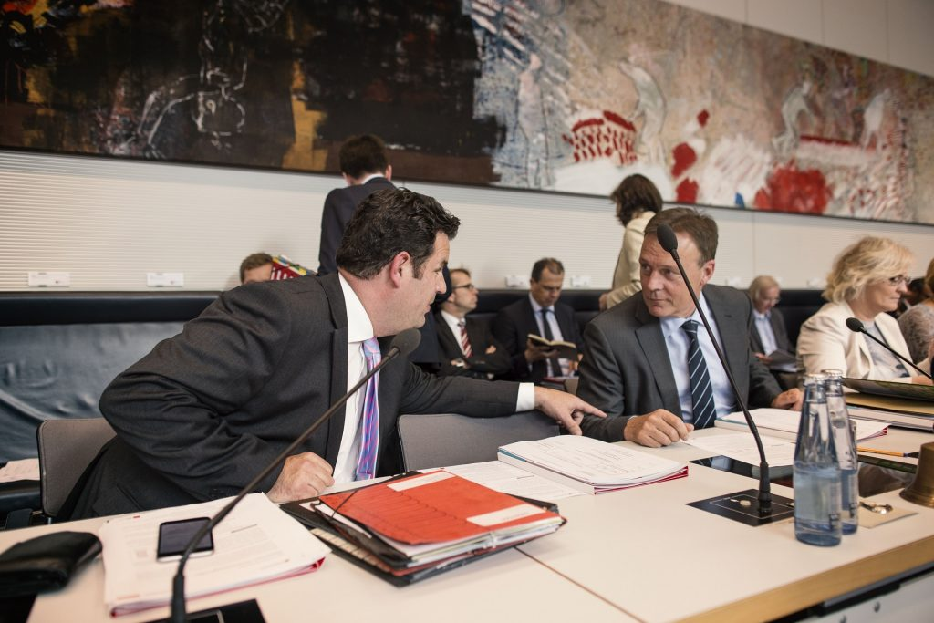 Mit meinem Fraktionsvorsitzenden Thomas Oppermann, Foto: Nanna Heitmann