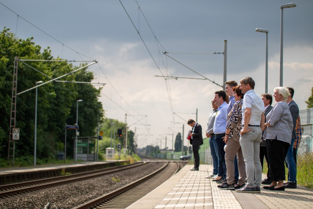 Barrierefreier Bahnsteig