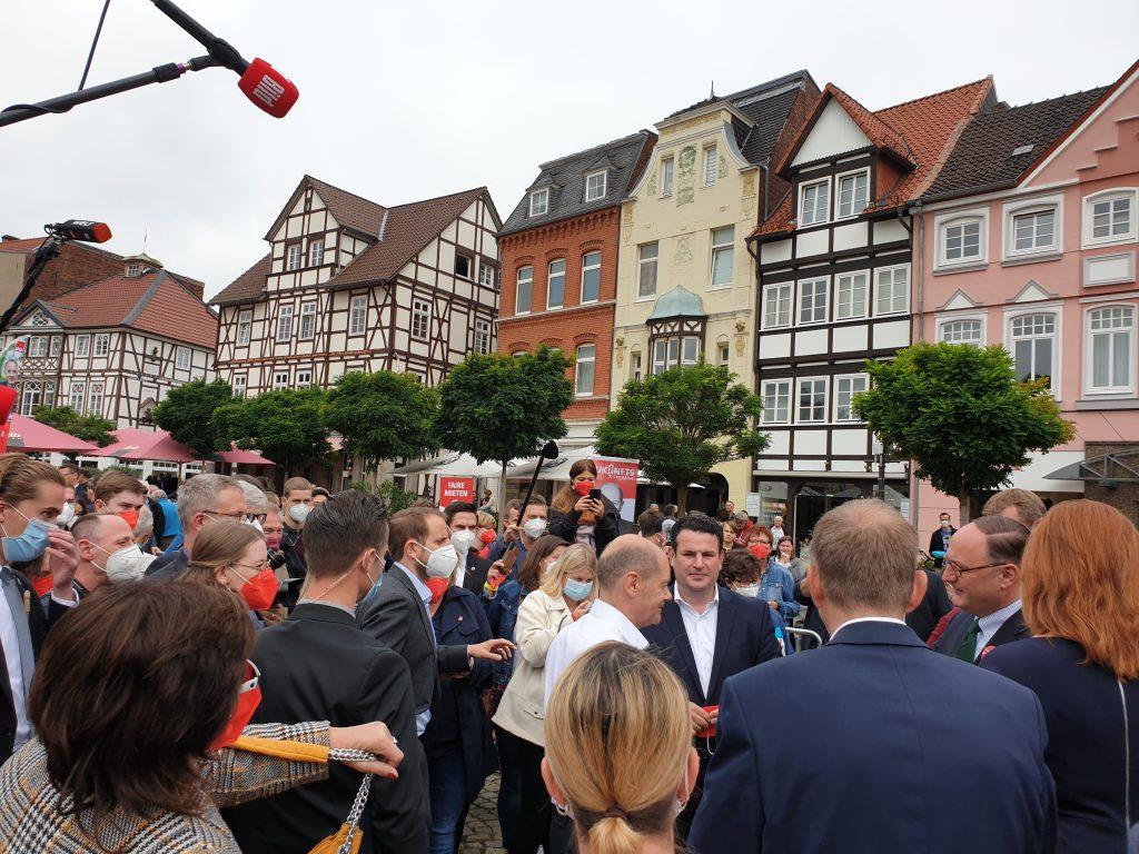 Kundgebung Olaf Scholz
